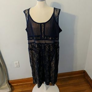 Lane Bryant Navy Lace Dress